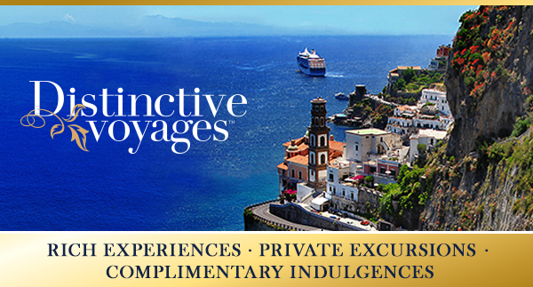 cruise holidays, vacation package, distinctive voyages, amenities, shore exursions